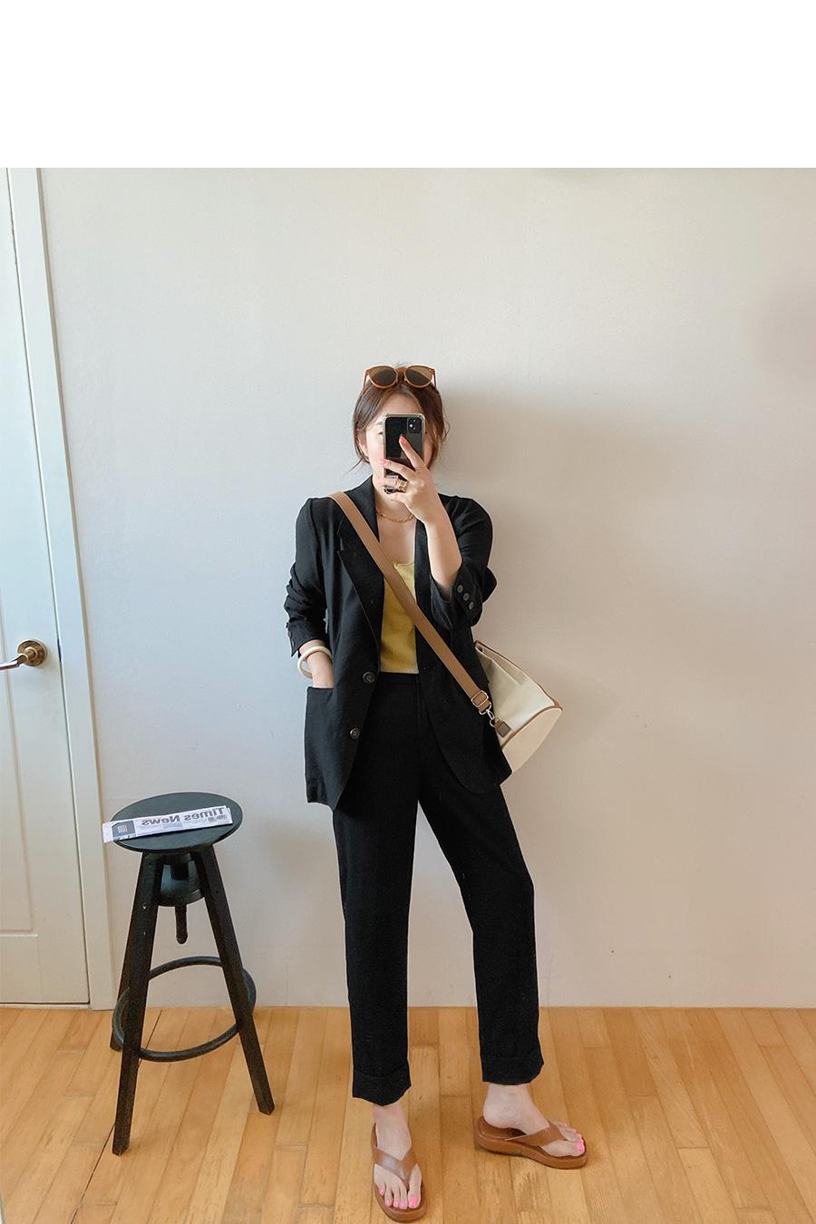 韩国nylon pink_后开衩摆袋盖宽松西装夹克 - romistory♥ 韩国大码女装官网..演绎 ...